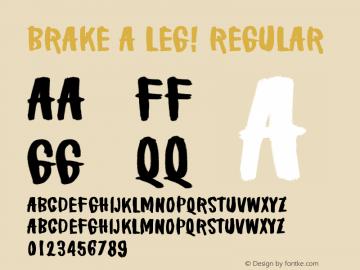 Brake a leg!
