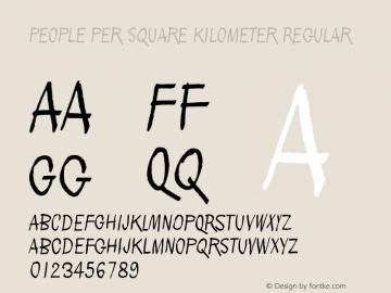 People per square kilometer