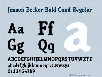 Jenson Becker Bold Cond