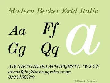 Modern Becker Extd