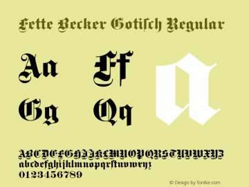 Fette Becker Gotisch