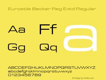 Eurostile Becker Reg Extd