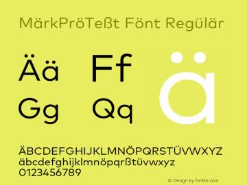 MarkProTest Font