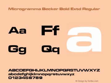 Microgramma Becker Bold Extd