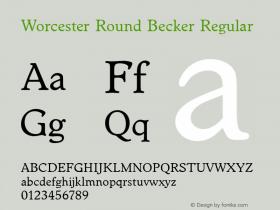 Worcester Round Becker