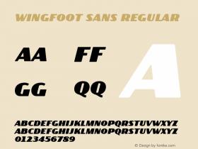 Wingfoot Sans