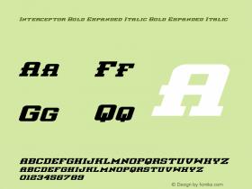 Interceptor Bold Expanded Italic