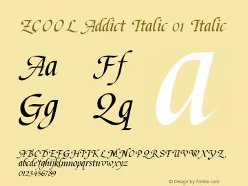 ZCOOL Addict Italic 01