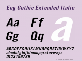 Eng Gothic Extended