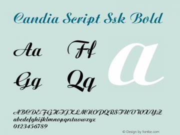 Candia Script Ssk