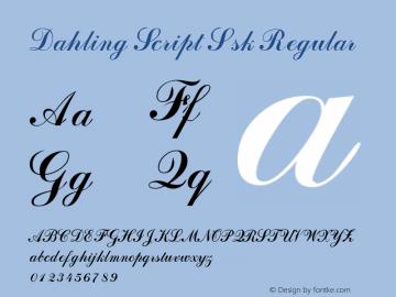 Dahling Script Ssk