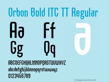 Orbon Bold ITC TT