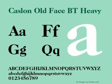 Caslon Old Face BT