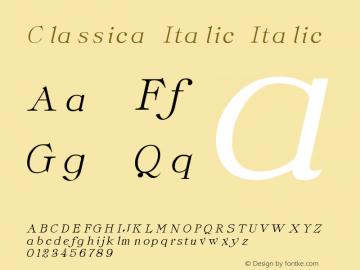 Classica Italic