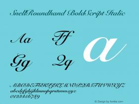 SnellRoundhand BoldScript