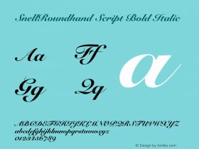 SnellRoundhand Script