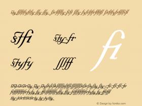 Elegeion Script Ligatures