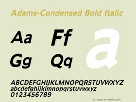 Adams-Condensed