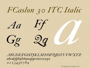 FCaslon 30 ITC
