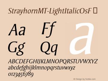 StrayhornMT-LightItalicOsF