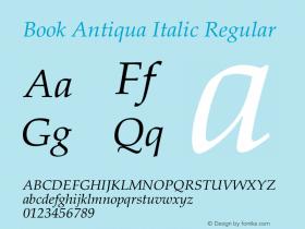 Book Antiqua Italic