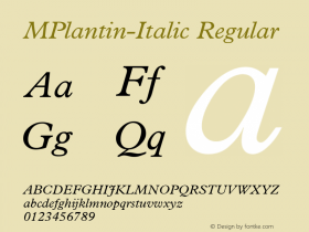 MPlantin-Italic
