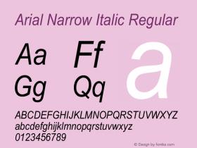 Arial Narrow Italic