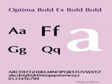 Optima Bold Ex Bold