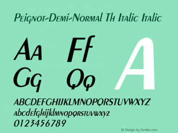 Peignot-Demi-Normal Th Italic