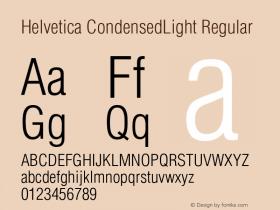 Helvetica CondensedLight