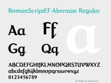RomanScriptEF-Alternate