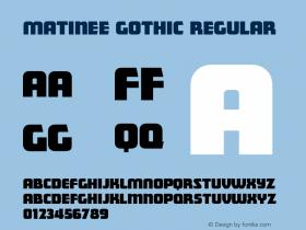 Matinee Gothic