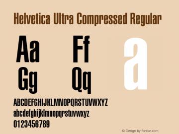 Helvetica Ultra Compressed