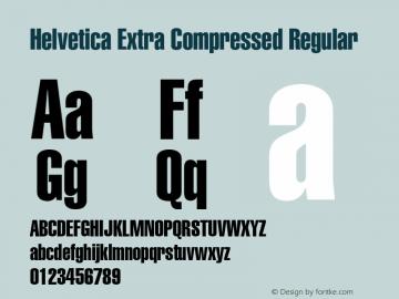 Helvetica Extra Compressed