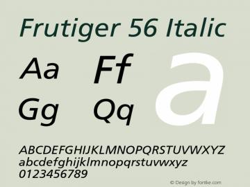 Frutiger 56
