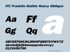 ITC Franklin Gothic Heavy