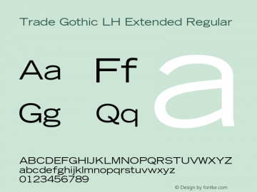 Trade Gothic LH Extended