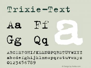 Trixie-Text