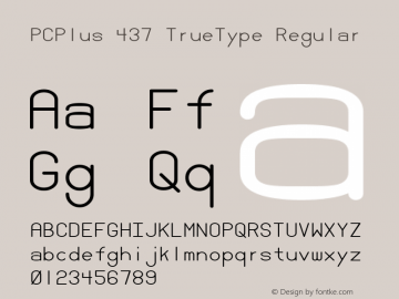 PCPlus 437 TrueType