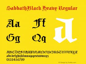 SabbathBlack Heavy