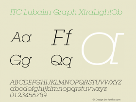 ITC Lubalin Graph