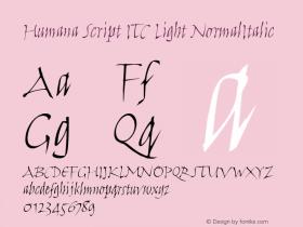 Humana Script ITC Light