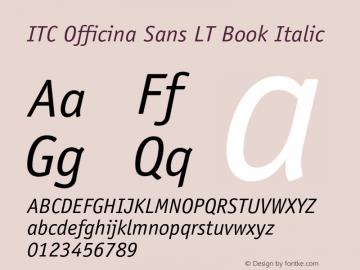 ITC Officina Sans LT Book