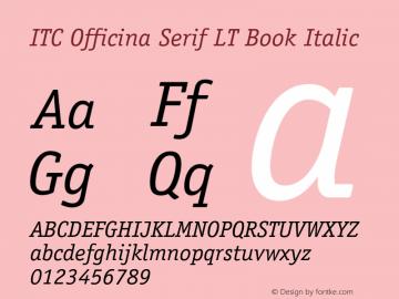 ITC Officina Serif LT Book