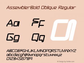 AssemblerBold Oblique