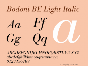 Bodoni BE Light