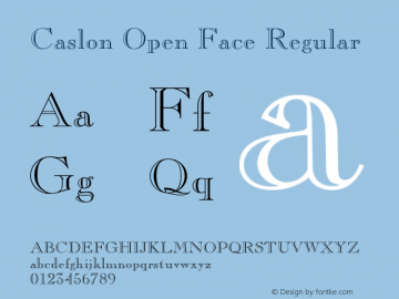 Caslon Open Face