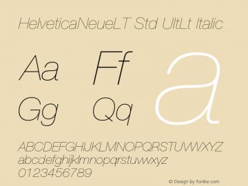 HelveticaNeueLT Std UltLt