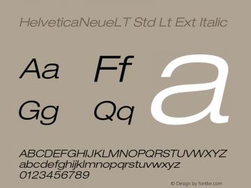 HelveticaNeueLT Std Lt Ext