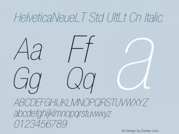 HelveticaNeueLT Std UltLt Cn